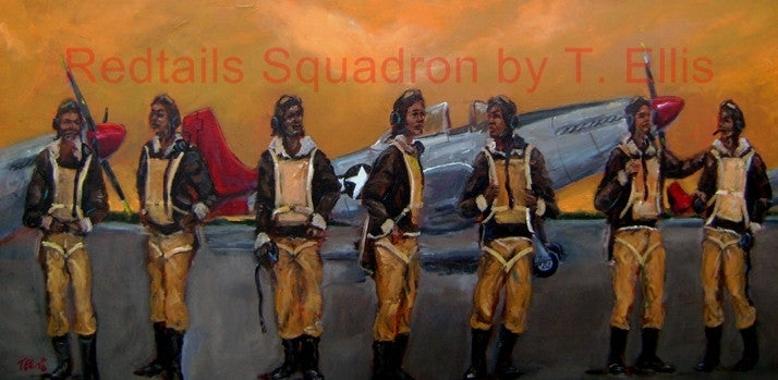 Red Tails Squadron - 15x30 print - Ted Ellis