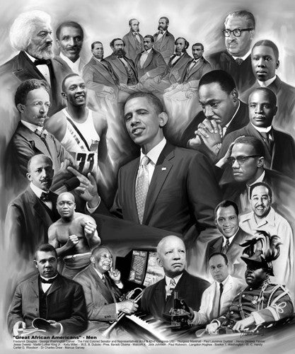 Great African American Men - 24x20 print - Wishum Gregory