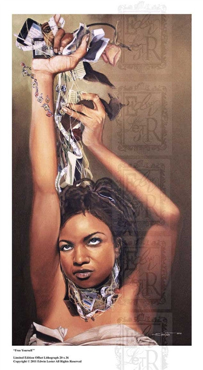 Free Yourself - 38x22 limited edition print - Edwin Lester