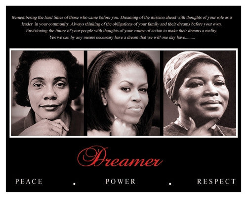 Dreamer Trio Peace Power Respect - 8x10 - print - Anon