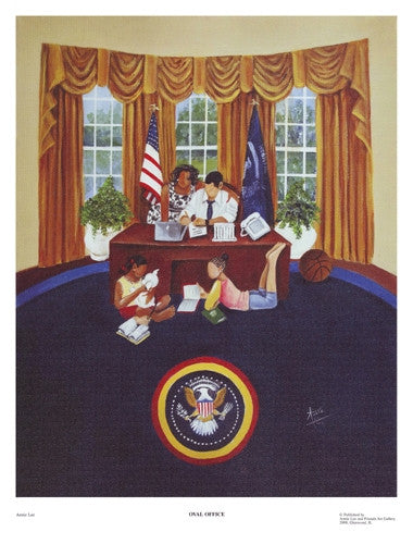 Oval Office - 17x13 print - Annie Lee