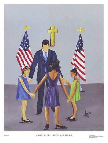 A Family That Prays Together - 17x13 print - Annie Lee