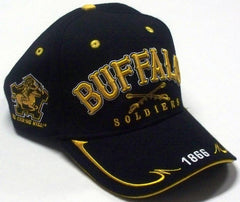 Buffalo Soldiers cap - with swords on front - black