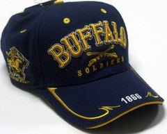 Buffalo Soldiers cap with swords on front - navy