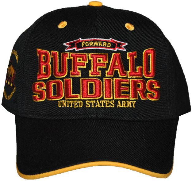 Buffalo Soldiers cap - with red letters