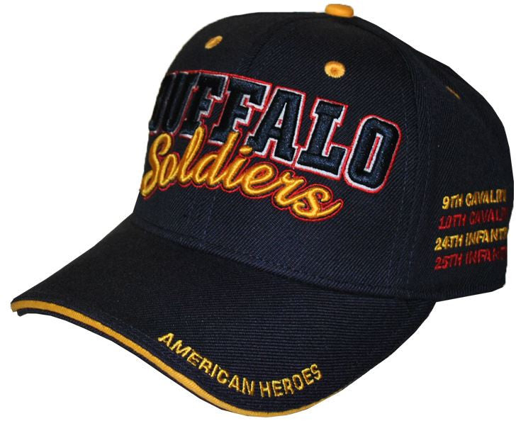 Buffalo Soldiers cap - with black and gold letters