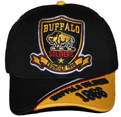 Buffalo Soldiers cap - with shield and two-toned bib