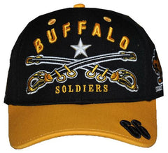 Buffalo Soldiers cap - with swords and gold bib