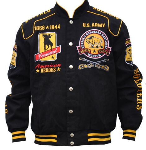 Buffalo Soldiers jacket - cotton with soldier - BTJJ