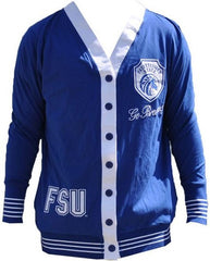 Fayetteville State sweater - ladies cardigan - blue