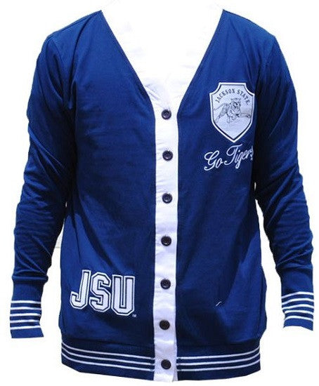 Jackson State sweater - ladies cardigan - blue
