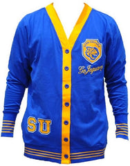 Southern University sweater - ladies cardigan - blue