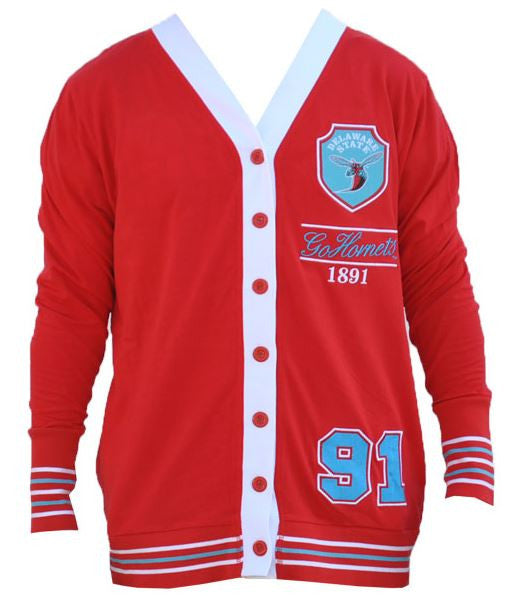 Delaware State sweater - ladies cardigan - CFCC