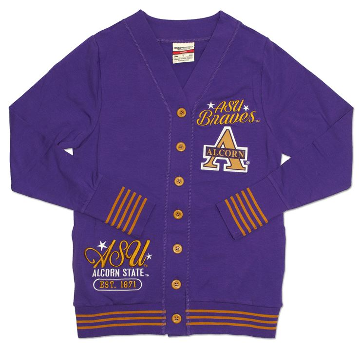 Alcorn State sweater - ladies cardigan - CFCD