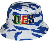 Eastern Star cap - bucket camo blue