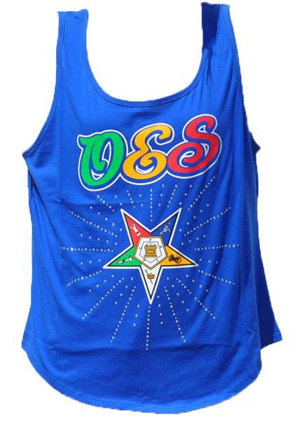 Eastern Star t-shirt - tank top - blue