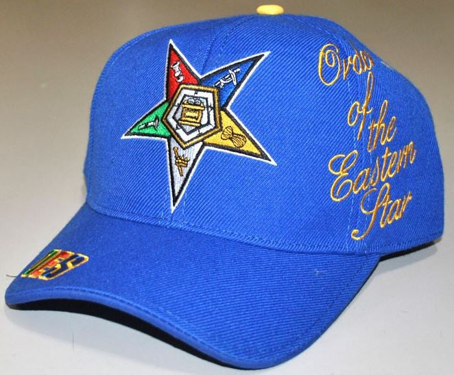 Eastern Star cap - baseball with signature - blue