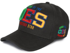 Eastern Star cap - baseball - black - ESW142