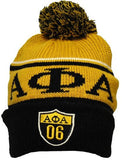Alpha Phi Alpha cap - beanie with ball - GB248-OGLD