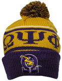 Omega Psi Phi cap - beanie with ball - gold - GB248