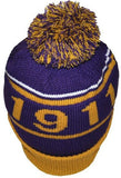 Omega Psi Phi cap - beanie with ball - purple - GB248
