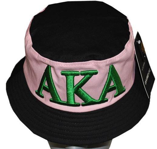 Alpha Kappa Alpha cap - pink and black bucket