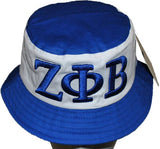 Zeta Phi Beta cap - bucket - white