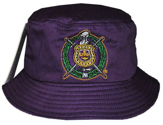 Omega Psi Phi cap - bucket - purple - H143