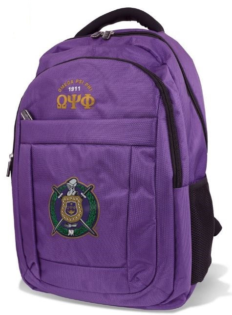 Omega Psi Phi backpack