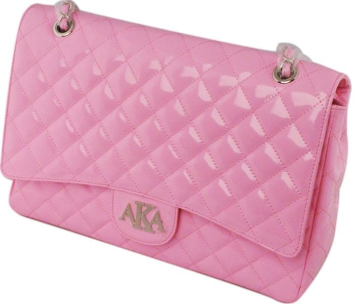 Alpha Kappa Alpha handbag - leather clutch purse