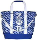 Zeta Phi Beta handbag - canvas tote bag - blue