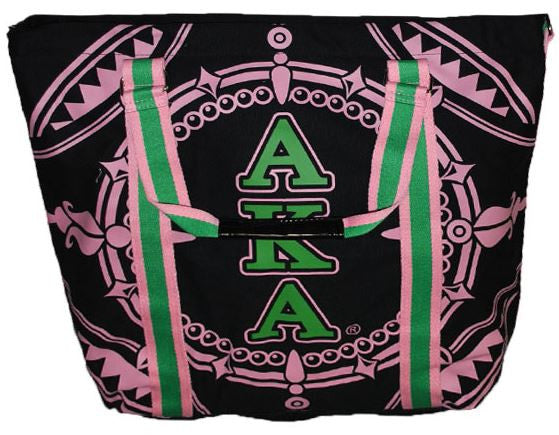 Alpha Kappa Alpha handbag - canvas tote - black
