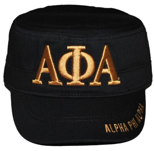 Alpha Phi Alpha cap - captain - black - GCT145