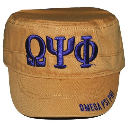 Omega Psi Phi cap - captains gold - GCT145