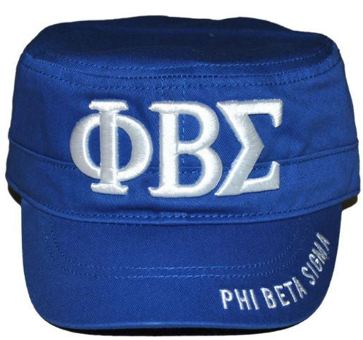 Phi Beta Sigma cap - captain letter - blue - GCT145