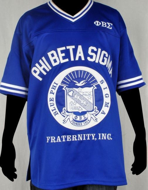 Phi Beta Sigma - football jersey - blue