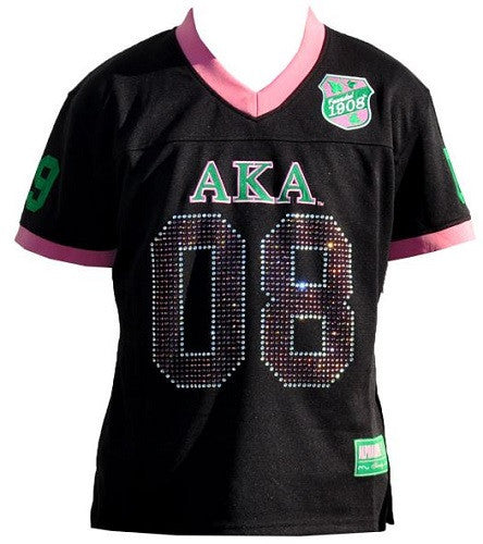 Alpha Kappa Alpha jersey - football - black with sequins