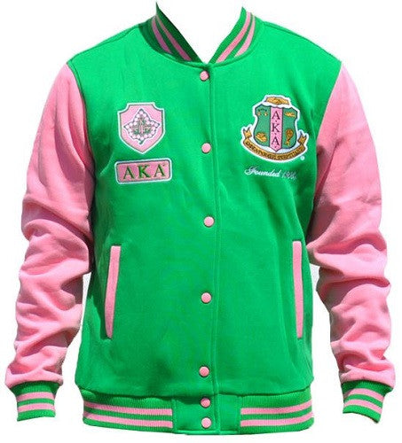 Alpha Kappa Alpha jacket - fleece - green