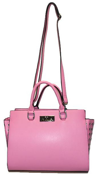 Alpha Kappa Alpha hand bag - leather - pink