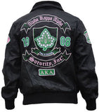 Alpha Kappa Alpha jacket -  faux leather - GLJB