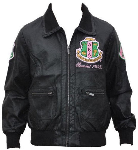Alpha Kappa Alpha Jacket Faux Leather Gljb It S A