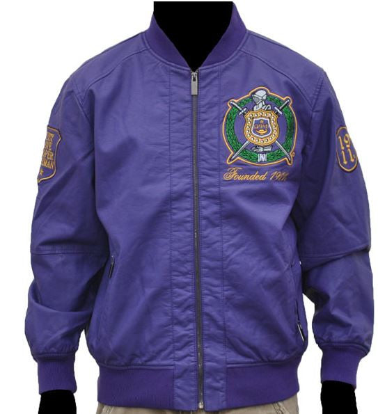 Omega Psi Phi jacket - faux leather - GLJB