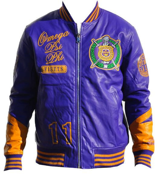 Omega Psi Phi jacket - faux leather - GLJC