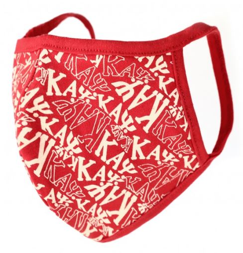 Kappa Alpha Psi Face Mask - crimson