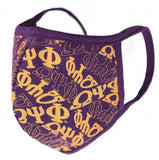 Omega Psi Phi Face Mask - purple