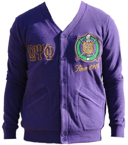 Omega Psi Phi sweater - lightweight cardigan