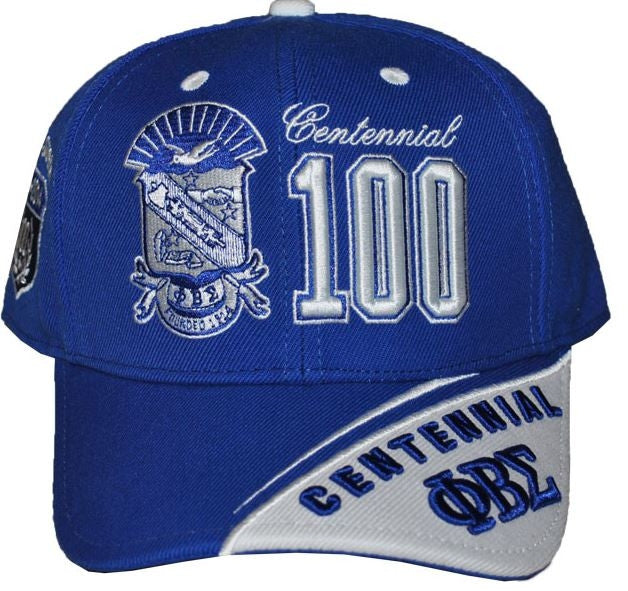 Phi Beta Sigma cap - centennial blue - split color bib