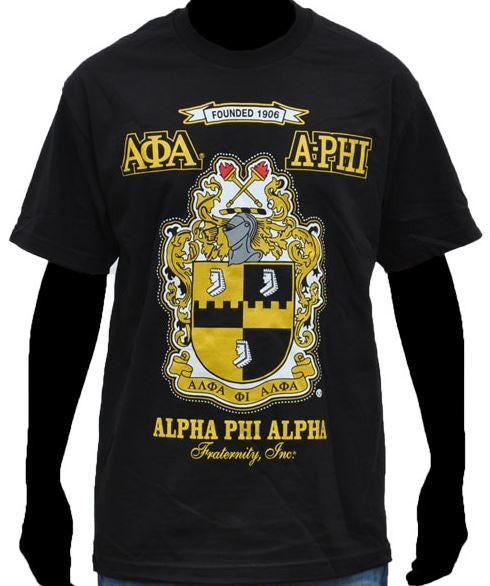 Alpha Phi Alpha t-shirt - black with shield