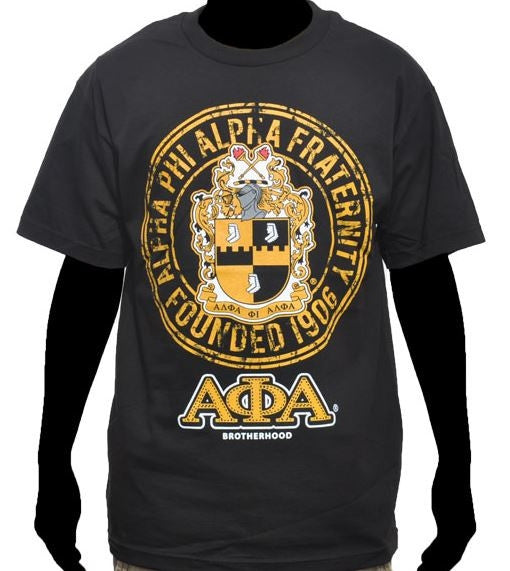 Alpha Phi Alpha t-shirt - crest in circle