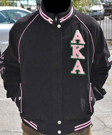 Alpha Kappa Alpha jacket - cotton twill - black